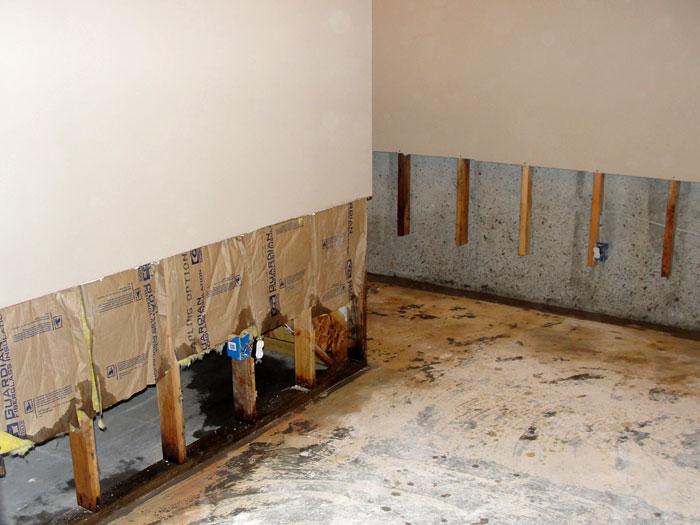 Basement Wall Restoration Basement Drywall Repair In Michigan - Drywall for basement