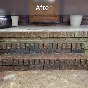 Sinking stairs repaired with PolyLevel® Ashland