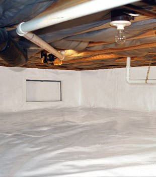 A complete crawl space repair system in Eagle River