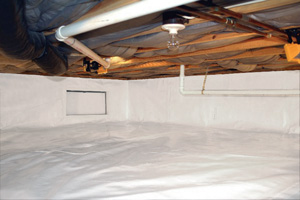 Crawl Space Repair After in Houghton