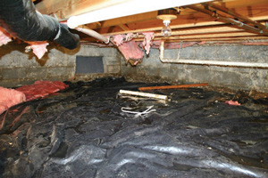 Crawl Space Repair Before in Ashland