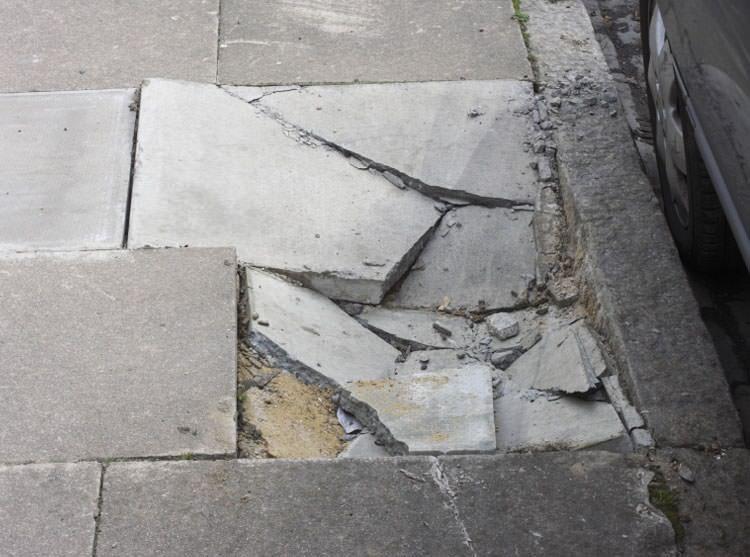 Sinking Outdoor Concrete Repair