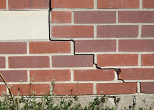 a foundation wall crack on a Bayfield home.