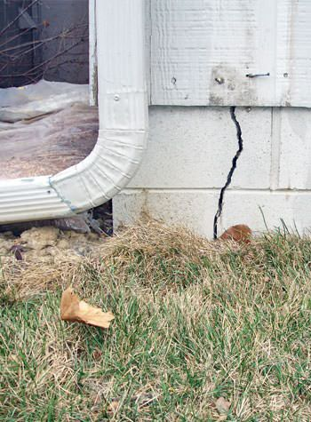 foundation wall cracks due to street creep in Bayfield
