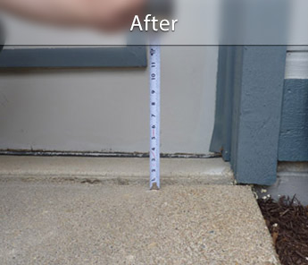 Ashland concrete walkway repair & leveling