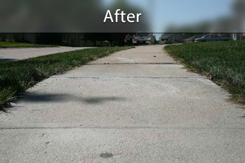 After photo of PolyLevel® concrete sidewalk repair in Ashland