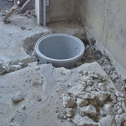 Placing a sump pit in a Washburn home