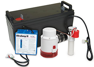 a battery backup sump pump system in Park Falls
