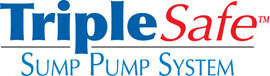 Sump pump system logo for our TripleSafe™, available in areas like Mercer
