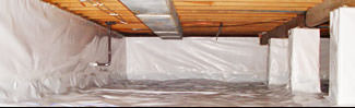 an encapsulated crawl space system in Eagle River