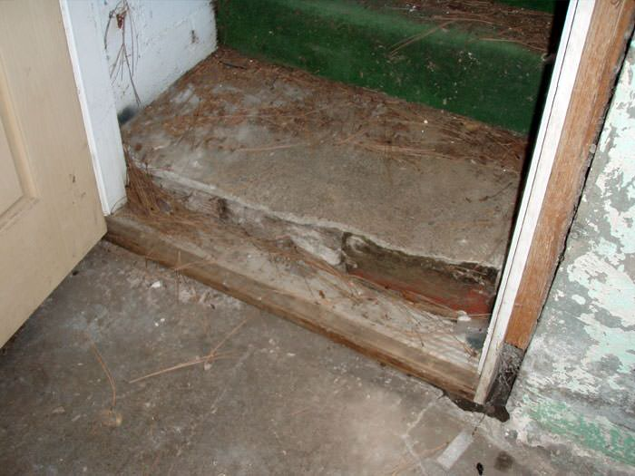 A flooded basement in Lac Du Flambeau where water entered through the hatchway door & Flooded Basement Stairways In Ashland Houghton Marquette ...