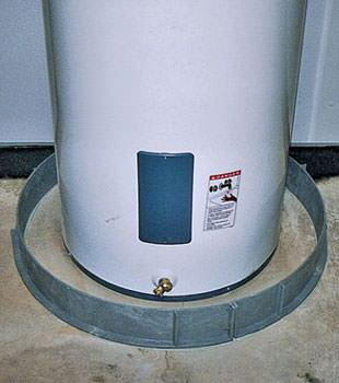 An old water heater in Lac Du Flambeau, MI and WI with flood protection installed