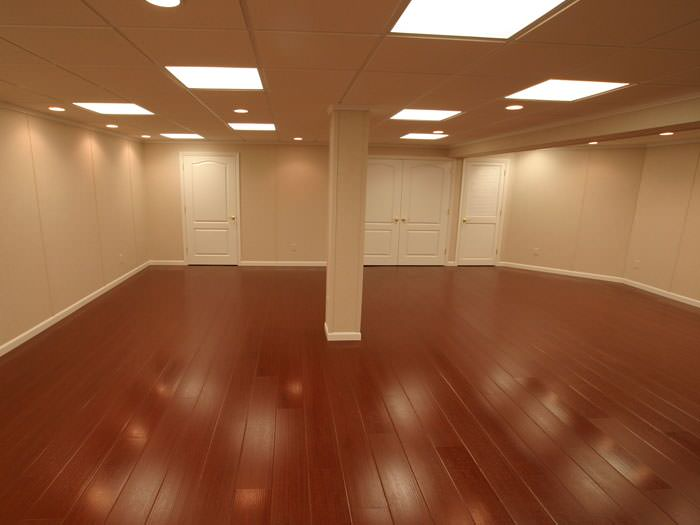 Rosewood Faux Wood Basement Flooring For Finished Basements In Ashland;  Waterproof Wood Floor ...