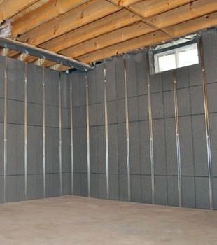 Installed basement wall panels installed in Iron River